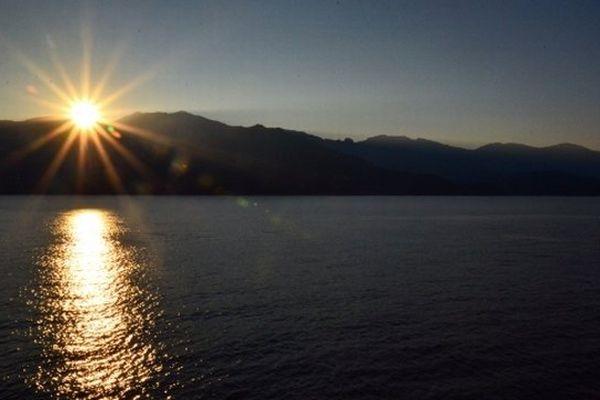 Illustration - Cap Corse, coucher de soleil sur le Monte Stello