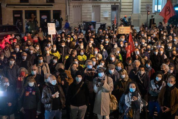 """Rassemblement le 17 novembre sur le parvis des droits de l'homme à Bordeaux contre le projet de loi """"sécurité globale"""""""