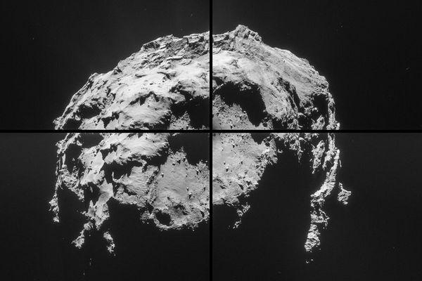 Tchouri photographiée par Rosetta à une distance de seulement 35 km