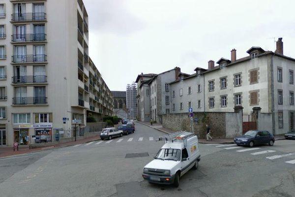 Une placette aménagée à Limoges à l'angle du Boulevard de la Cité et de la rue Neuve-Saint-Etienne (illustration)