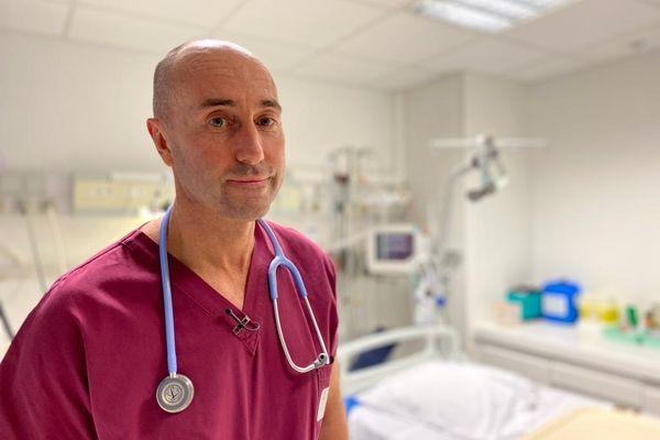 Patrick Lafforgue, chef du service réanimation de la clinique d'Occitanie à Muret