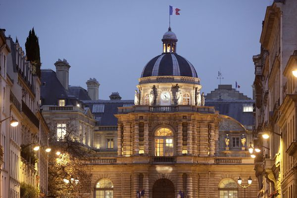 Le Palais du Luxembourg à Paris, siège du Sénat