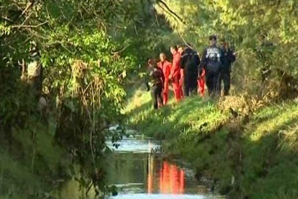 Le corps de l'étudiant disparu le 26 octobre sur le campus de la garde a été retrouvé dans ce ruisseau le lendemain matin.