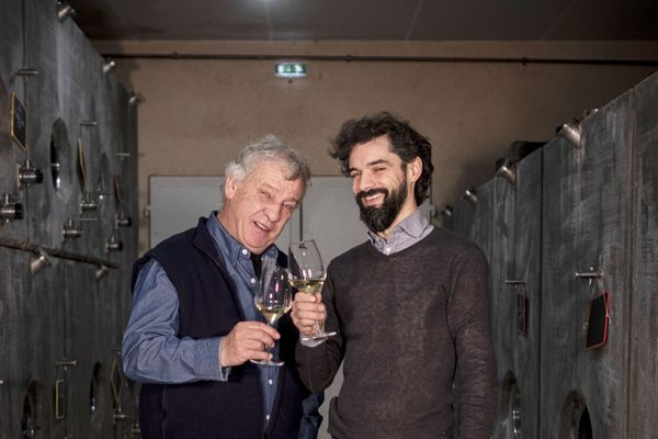 Jean-Pierre Guffens et Julien Desplans (œnologue)
