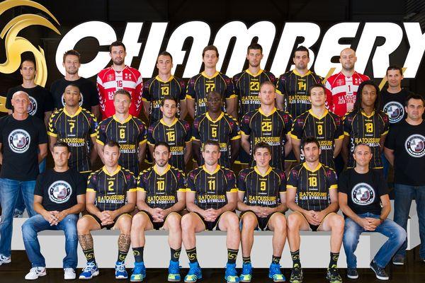 La photo officielle de l'équipe de handball de Chambéry, version 2012/2013.