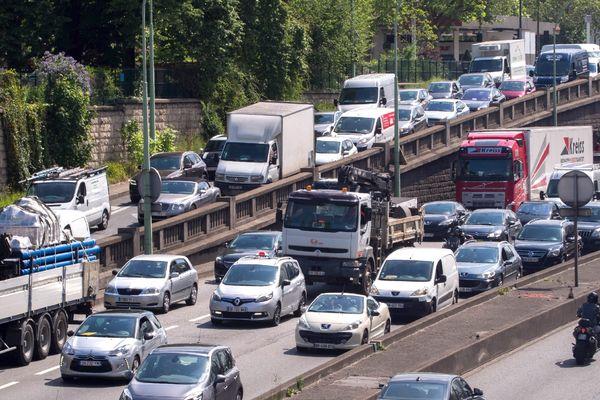 Des embouteillages, sur le périphérique parisien, porte d'Orléans (archives).
