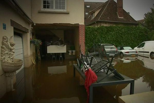 Inondation à Breteuil (Eure) en juin 2018