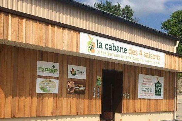 """Distributeur automatique de légumes et de produits locaux """"La cabane des quatre saisons"""""""