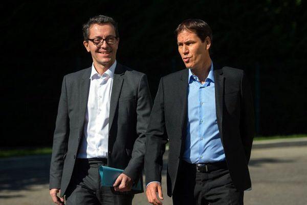 Rudy Garcia et Jacques-Henri Eyraud