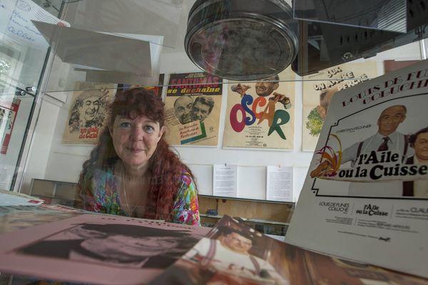 """Roselyne Duringer, conservatrice du """"musée de Louis"""" au château du Cellier, ancienne résidence de l'acteur qui aurait eu 100 ans le 31 juillet 2014"""