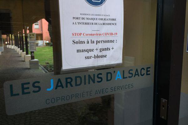 La résidence seniors des Jardins d'Alsace héberge environ 130 personnes