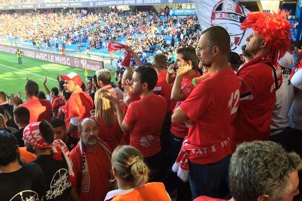 Montpellier - les supporteurs nîmois - 30 septembre 2018.