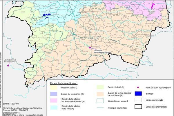 Le Semmon dans le sud-est de l'Ille-et-Vilaine est particulièrement touché par la sécheresse