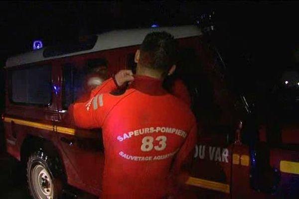 Dans la nuit au cours des inondations à Hyères, les secours ont été très sollicités.