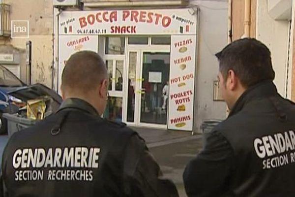 """La pizzeria de Cournonterral, dans l'Hérault, où """"Pito le Gitan"""" a été tué en février 2009"""