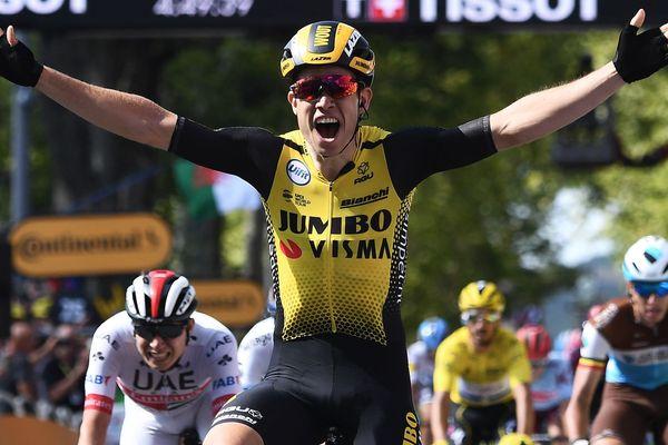 Première victoire d'étape pour Mout Van Aert à Albi