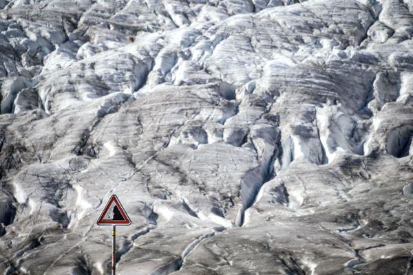 Le glacier de l'Aletsch, le plus grand des Alpes, en octobre 2019.