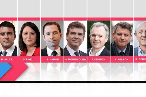 Primaire de la gauche : les 7 candidats en lice