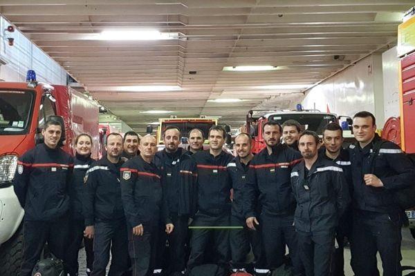 Montpellier - 15 pompiers de l'Hérault partent en renfort en Corse - 11 février 2020.