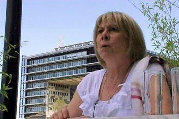 Montpellier - France Jamet candidate FN à la mairie - 14 juin 2013