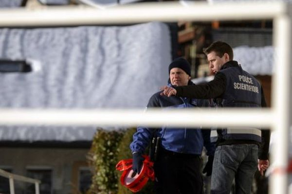 Sur les lieux de la tuerie de Daillon en Suisse - AFP