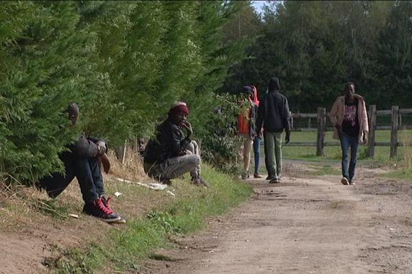 Des migrants soudanais à Ouistreham