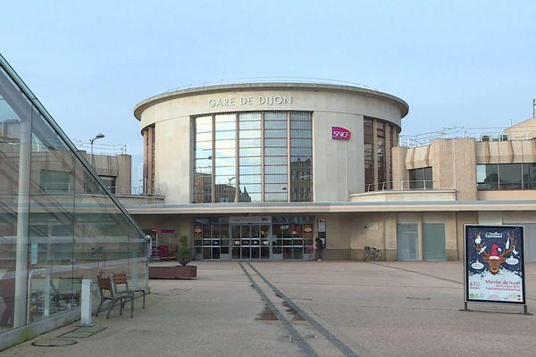 La gare de Dijon en janvier 2020.