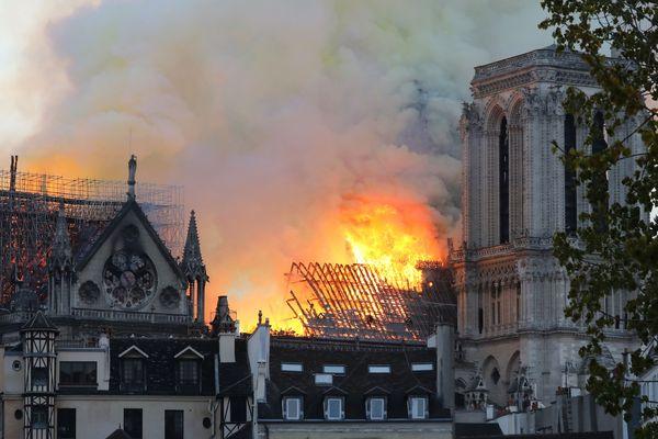 Notre-Dame-de-Paris en flammes, le 15 avril 2019