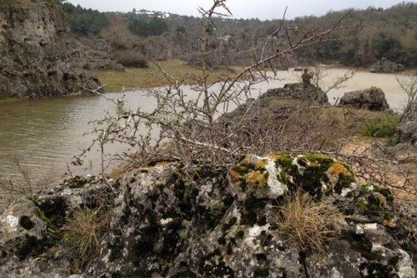 Le lac des Rives, sur le causse du Larzac - 7/12/2014