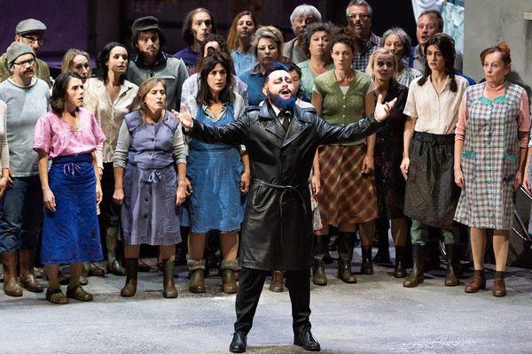 Barbe bleue à l'opéra de Lyon mis en scène par Laurent Pelly