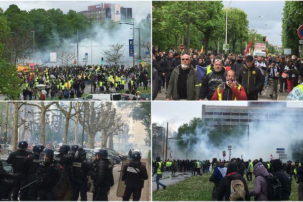 La manifestation des gilets jaunes le 27 avril 2019 à Strasbourg