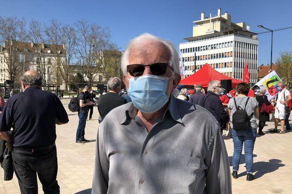 Gérard Journet, manifestant et secrétaire général des retraités FO de Côte d'Or.