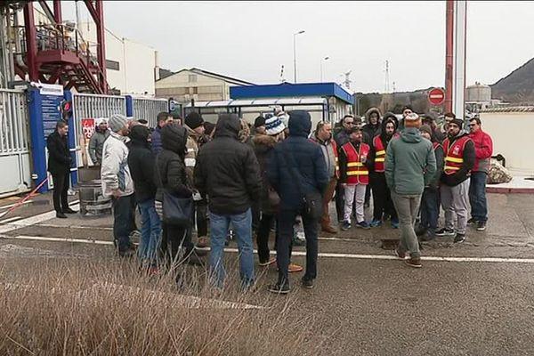 Les salariés de Framatome en grève depuis ce lundi 11 février 2019 à Jarrie en Isère.