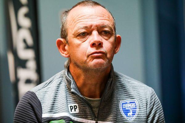 Pascal Plancque, lorsqu'il entraînait les Chamois Niortais, le 21 juin 2019.