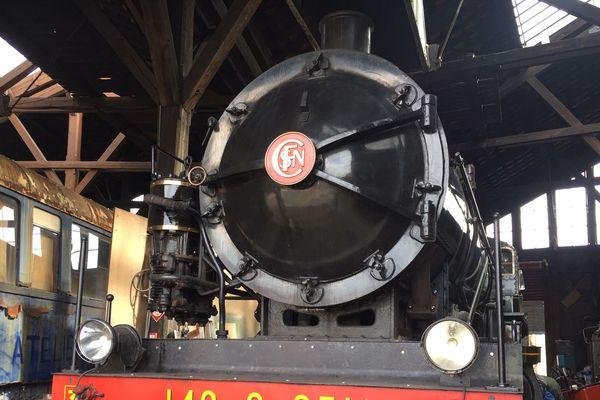 La locomotive, de retour en gare de Provins, date de 1914.