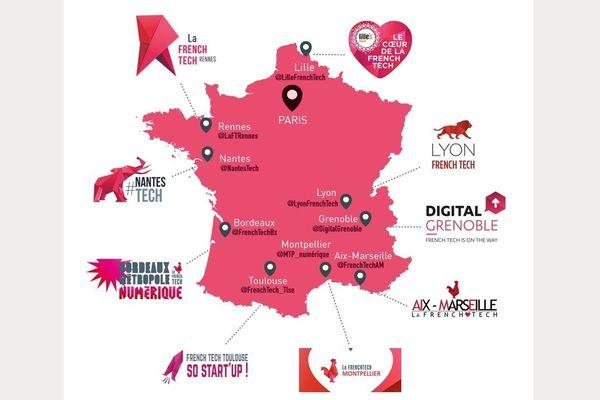 Un grand quart Nord-Est de la France semble oublié du label French Tech.