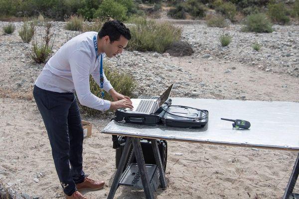 Nacer Chahat teste le dispositif