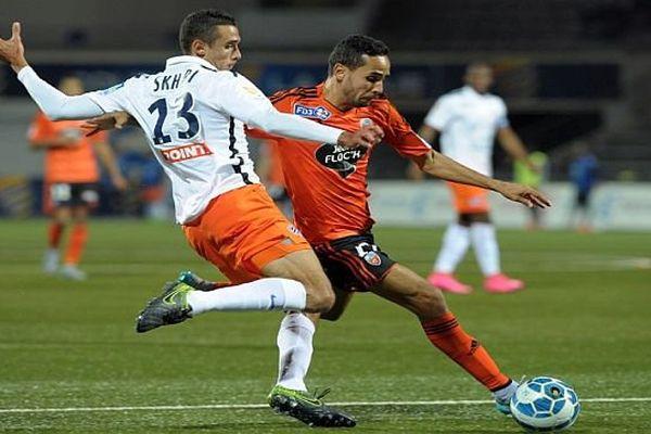 Lorient (Morbihan) - Montpellier éliminé 3 à 2 en 16es de finale de la Coupe de la ligue - 28 octobre 2015.