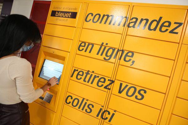 Un casier comme celui-ci pour réceptionner les colis Amazon devrait être installé prochainement dans la gare de Quillan