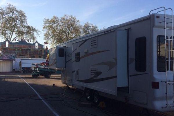 La ville de Rouen rappelle que le règlement interdit la présence de caravanes sur le champ de foire