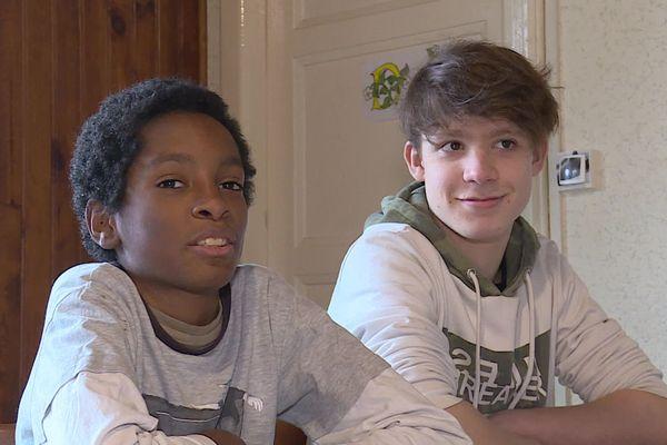 Kellyan à gauche et Matéo à droite ont sauvé deux vies le week-end dernier, à Belfort.
