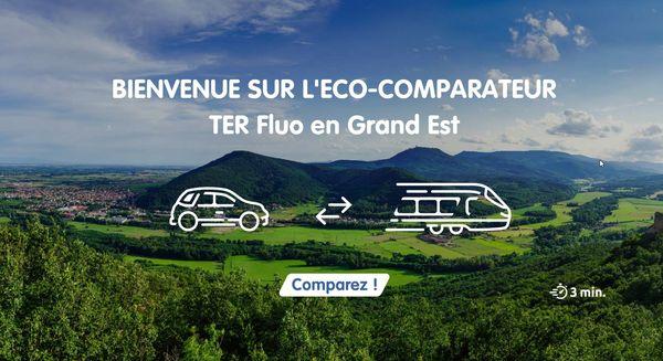 L'éco-comparateur TER Grand-Est, nouvel outil pour voyager plus écolo.