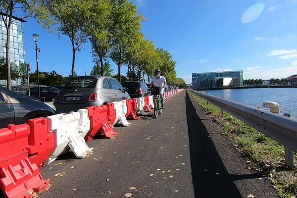 Vélos et cyclistes dans les rues du Havre (archives)