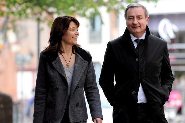 Blandine et Jean-Luc Moudenc durant la campagne des municipales 2014