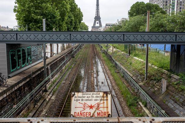 Le RER C, en 2016.