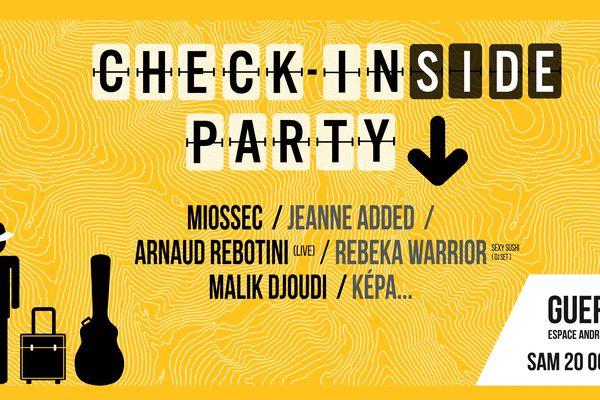 Avant-goût de la Check In Party, la Check In(side) Party aura lieu le 20 octobre