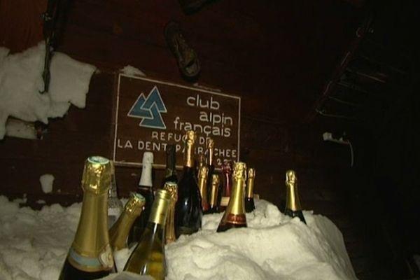 Même à 2500 m, on commencé l'année au champagne !