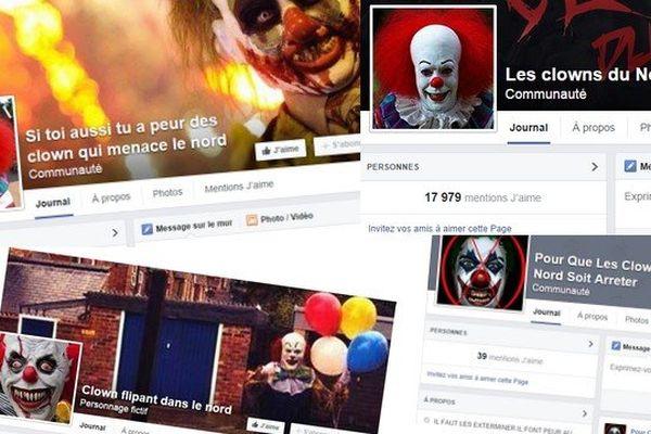 Quelques pages Facebook créées ces derniers jours.