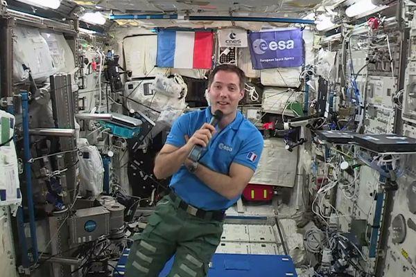Thomas Pesquet, lors de la mission Proxima en mai 2017.