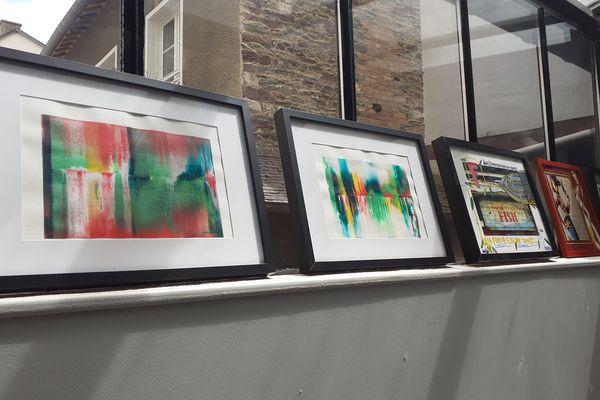 """Des œuvres de Sophie Neury et de Tarek, présentées pendant l'exposition """"Partitions Urbaines #5"""""""